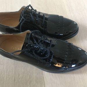 Enzo Angiolini Black Patent Flat - Size 7